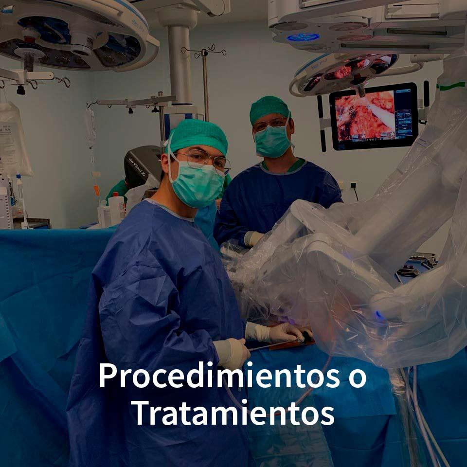 Procedimientos o Tratamientos